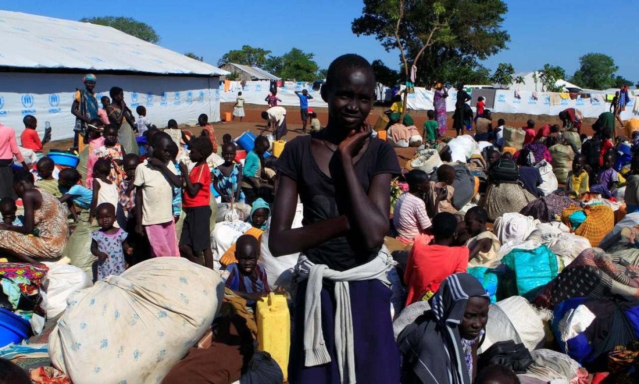 Sudão do Sul foi o país que mais gerou refugiados no ano passado: 737.400 pessoas fugiram do país Foto: JAMES AKENA / REUTERS
