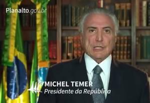 Em vídeo divulgado na internet, Michel Temer ataca empresários que receberam