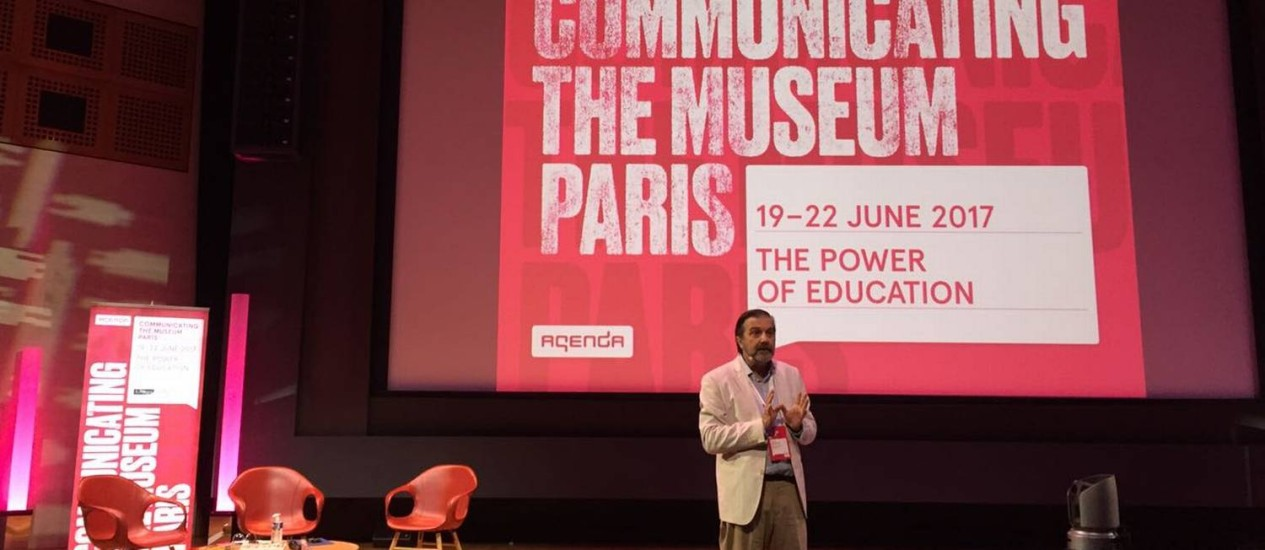 """Secretário-geral da Fundação Roberto Marinho, Hugo Barreto participou do encontro """"Communicating the Museum"""" Foto: Divulgação"""