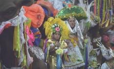 O desfile da Imperatriz em 1995 Foto: Fernando Maia