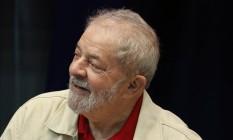 Lula durante posse de novo diretorio estadual do PT-SP na Assembleia Legislativa, em junho de 2017 Foto: Edilson Dantas / Agência O Globo
