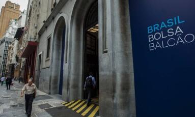 Prédio da B3 (antiga Bovespa), no Centro de São Paulo Foto: AFP