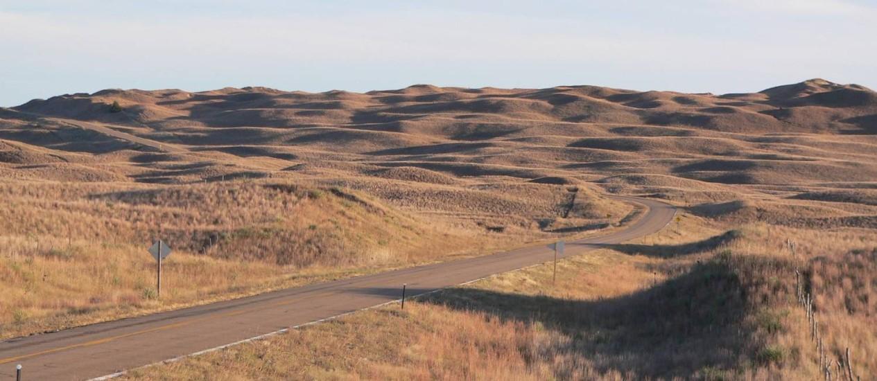 A região de Sandhills, no estado do Nebraska, é um dos melhores pontos para observar o eclipse solar total Foto: Creative Commons