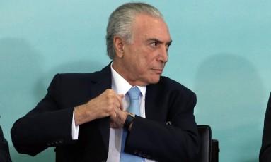 O presidente Michel Temer Foto: Givaldo Barbosa / Agência O Globo / 7-6-2017
