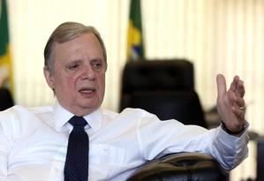 O presidente interino do PSDB Nacional, senador Tasso Jereissati Foto: Givaldo Barbosa / Agência O Globo