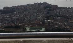 Belvedere em Nápoles com indicações em braile Foto: Divulgação
