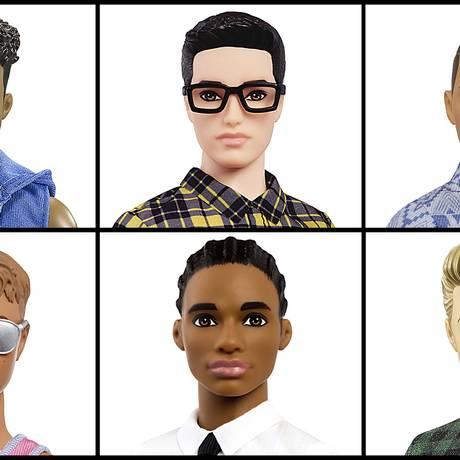 O Ken ganhou novos tons de pele, penteados, cores dos olhos e formatos de corpo Foto: AP