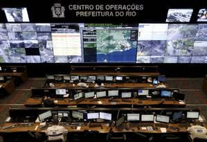 Segundo a prefeitura, foco do Centro de Operações, agora, é acompanhar a segurança das ruas Foto: Domingos Peixoto / Agência O Globo