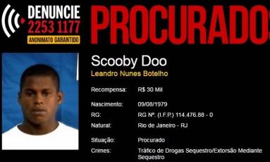 Portal dos Procurados oferece recompensa de R$ 30 mil por Scooby Doo Foto: Reprodução