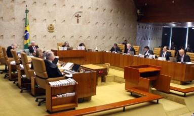 Plenário do STF discute delação de JBS Foto: Divulgação