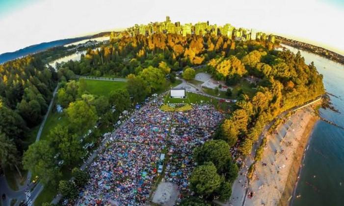 No parque canadense Foto: Divulgação