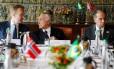 Presidente da República, Michel Temer, acompanhado do Ministro das Negócios Estrangeiros da Noruega, Senhor Borge Brende e do Ministro das Relações Exteriores, Aloysio Nunes