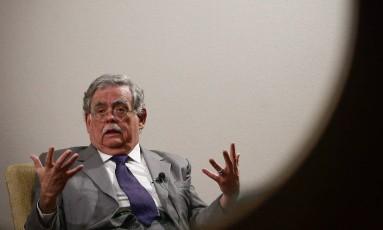Advogado de Temer, Antonio Cláudio Mariz de Oliveira dá palestra na Casa do Saber, em São Paulo Foto: Marcos Alves / Agência O Globo