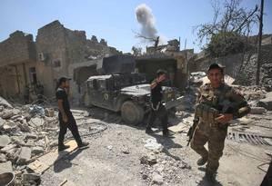 Forças antiterror do Iraque avançam sobre territórios controlados pelo Estado Islâmico em Mossul Foto: AHMAD AL-RUBAYE / AFP