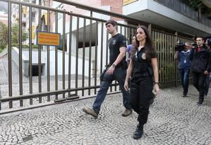 PF cumpriu mandados de busca e apreensão em dois endereços ligados à ex-primeira dama Adriana Ancelmo Foto: Fabiano Rocha / O Globo
