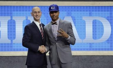 Markelle Fultz, primeira escolha do draft, foi para o Philadelphia 76ers Foto: Frank Franklin II / AP