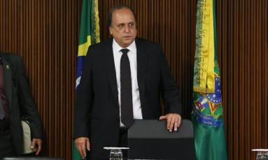 O governador Luiz Fernando Pezão em 05/06/2017 Foto: Givaldo Barbosa / Agência O Globo