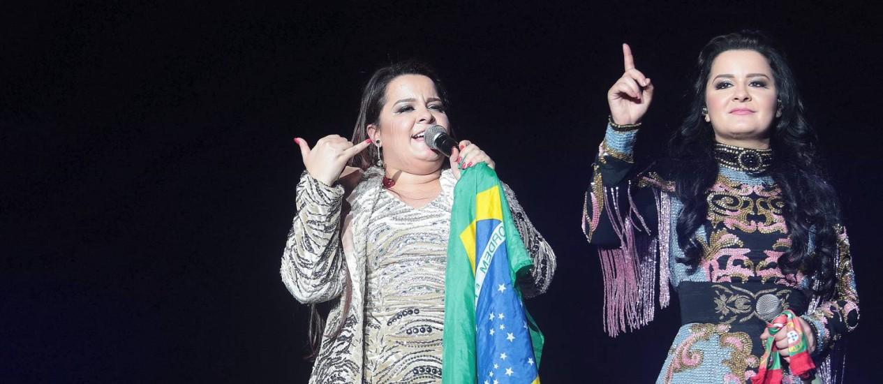 As cantoras Maiara e Maraisa Foto: Roberto Moreyra / Agência O Globo