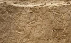 'Outdoor' antigo têm símbolos com 50 centímetros de altura Foto: UNIVERSIDADE YALE