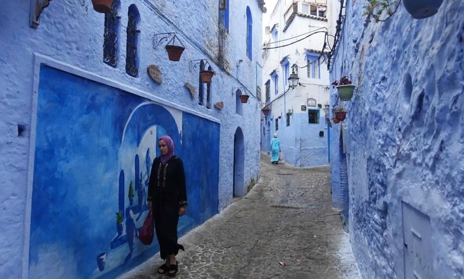 """Conheça Chefchaouen, a """"Cidade Azul"""" escondida nas montanhas do Marrocos Foto: Emily Irving-Swift / AFP"""
