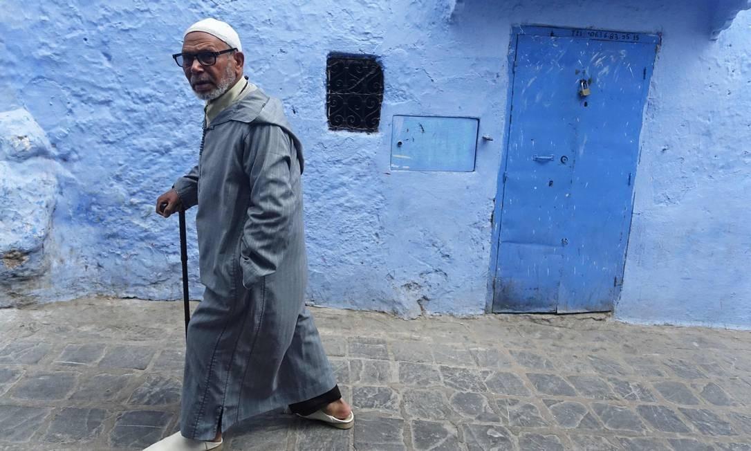 Apesar da importância dentro do islamismo, Chefchaouen foi por séculos lar de judeus que fugiram para o Marrocos perseguidos pela Inquisição Espanhola Foto: EMILY IRVING-SWIFT / AFP