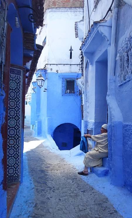 Chefchaouen, também chamada de Chaouen pelos locais, fica a 570km de Marrakech, a 350km de Casablanca e a 100km de Tanger Foto: EMILY IRVING-SWIFT / AFP