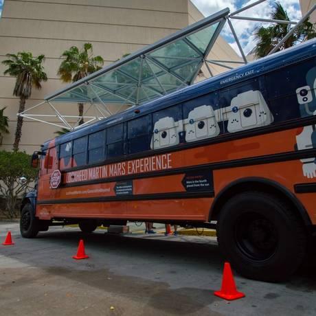 O Mars Experience Bus, a nova atração do Kennedy Space Center, na Flórida Foto: Divulgação