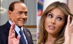Berlusconi teceu elogios a Melania Trump Foto: AFP e AP