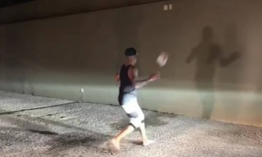Jesus cumpre desafio proposto por Neymar Foto: Reprodução