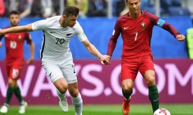 Cristiano Ronaldo abriu caminho para a goleada de Portugal com um gol de pênalti Foto: Divulgação/Getty Images / Fifa