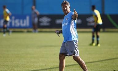 Renato Gaúcho durante treino do Grêmio Foto: Lucas Uebel / Grêmio FBPA