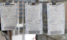PA São Paulo ( SP ) 30/12/2016 - Mega Sena da Virada - Movimentação nas casas lotericas para a Mega da Virada que sorteará aproximadamente R$ 225 milhões neste sábado. As apostas para concorrer ao super prêmio podem ser feitas até as 14h do dia 31. Foto: Edilson Dantas / Agencia O Globo Foto: Edilson Dantas / Agência O Globo