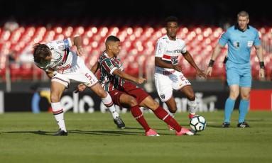 São Paulo e Fluminense empataram no Morumbi Foto: Edilson Dantas / Agência O Globo