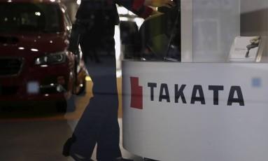 Estande da Takata em Tóquio Foto: Toru Hanai / REUTERS/Arquivo
