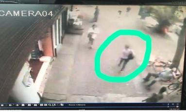 Imagem de câmera de segurança na Tijuca Foto: Divulgação/Reprodução