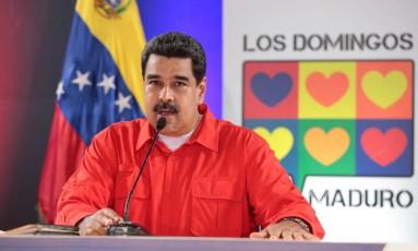 Maduro faz seu programa dominical: presidente acusou rivais de suposto complô Foto: HANDOUT / REUTERS