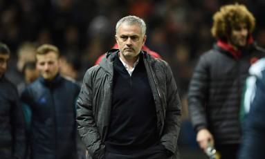 O técnico do Manchester United, José Mourinho Foto: OLI SCARFF / AFP