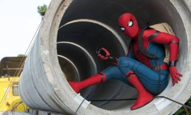 Cena de 'Homem-Aranha: De volta ao lar' Foto: Divulgação
