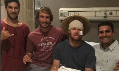 Ricardo Lopes, o segundo da esquerda para a direita, com o australiano Nath Bartlett Foto: Reprodução/Instagram