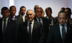 Michel Temer participa de Cerimônia de Sanção da Lei que Regulamenta a Diferenciação de Preçono Palácio do Planalto Foto: Andre Coelho / O Globo