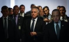 Michel Temer participa de Cerimônia de Sanção da Lei que Regulamenta a Diferenciação de Preçono Palácio do Planalto Foto: André Coelho / O Globo