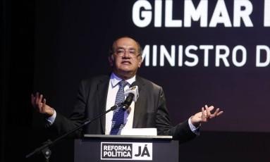 """Seminário 'Reforma Politica Já"""", com a presença do Ministro Gilmar Mendes Foto: Marcos Alves / Agência O Globo"""