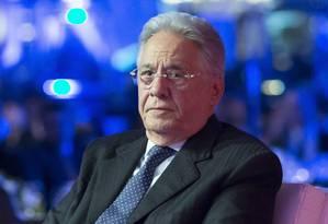 O ex-presidente Fernando Henrique Cardoso, em evento na capital paulista Foto: Edilson Dantas / Agência O Globo