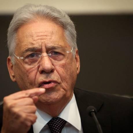 O ex-presidente Fernando Henrique Cardoso Foto: André Coelho / Agência O Globo / 26-4-17