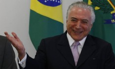 O presidente Michel Temer Foto: Givaldo Barbosa / Agência O Globo / 10-5-17
