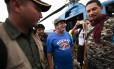 Rodrigo Londoño, o Timochenko, chega a local de desarme final das Farc Foto: RAUL ARBOLEDA / AFP