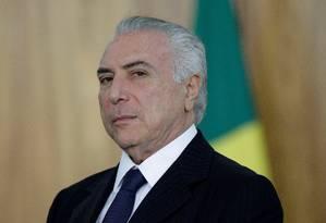 O presidente Michel Temer recebe embaixadores no Palácio do Planalto Foto: Ueslei Marcelino / Reuters