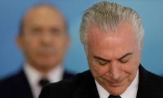 O presidente Michel Temer participa de cerimônia no Palácio do Planalto Foto: UESLEI MARCELINO / REUTERS