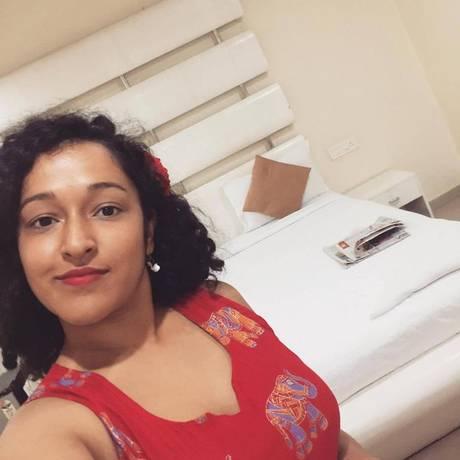 Nupur após ser realocada em outro hotel Foto: Reprodução Facebook