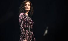 Lorde durante show no festival Glastonbury, na Inglaterra Foto: DYLAN MARTINEZ / REUTERS